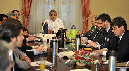 Vista de la reunión del Consejo de Ministros.