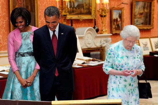 Reina Isabel II agasaju00f3 a Obama en el Palacio de ...