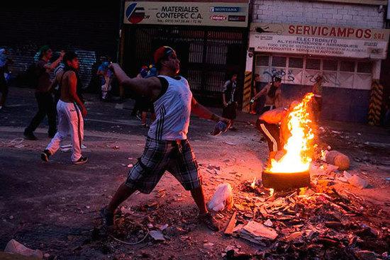 La violenta oposición de Venezuela