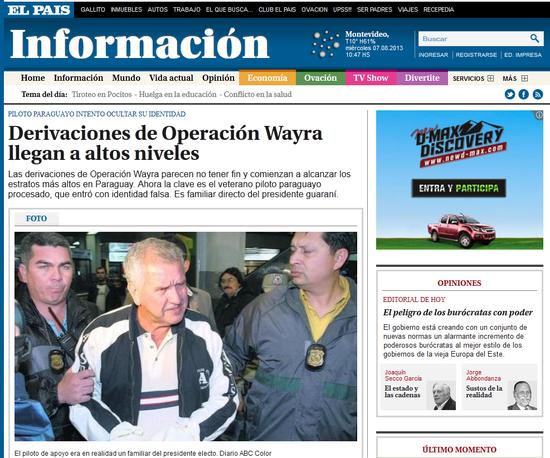 Por narcotr fico t o de cartes va preso en uruguay for Viveros en paraguay