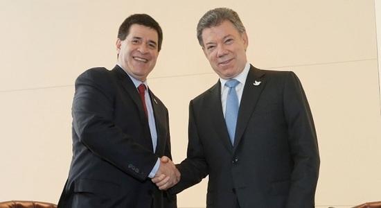 Santos va de visita oficial a Paraguay
