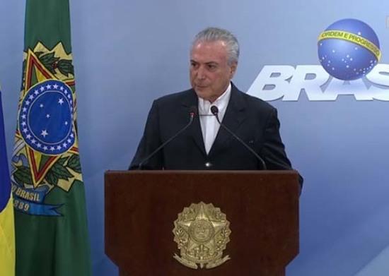 BRASIL: Temer solicita suspender investigación judicial en su contra