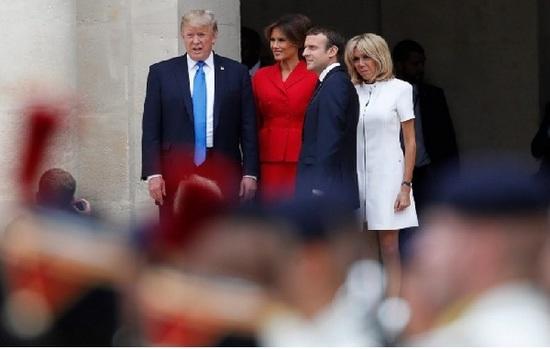 Macron defiende pacto climático en reunión con Trump