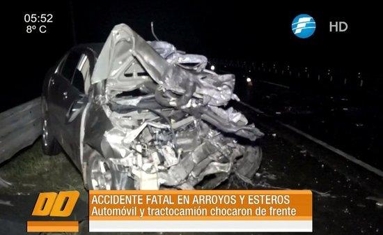 Dos muertos en choque frontal sobre la ruta III — PARAGUAY