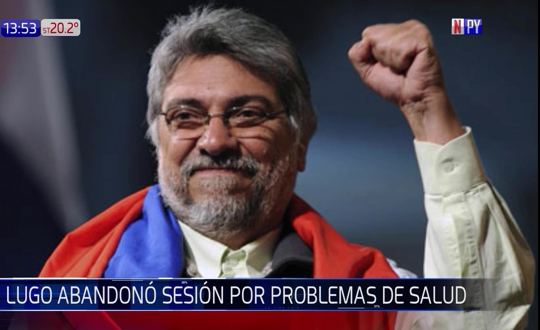 Lugo está internado por posible trombosis venosa
