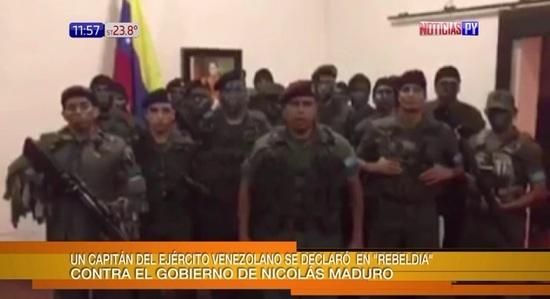 Venezuela comunica sobre un 'ataque terrorista' en una base militar