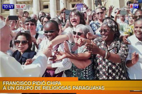 ¿Trajiste chipa?: la pregunta del papa Francisco en Roma
