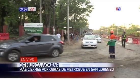 PARAGUAY: Metrobús: desde el miércoles clausurarán un tramo en San Lorenzo