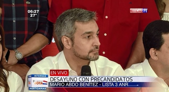 Mario Abdo Benítez elegido candidato colorado a la presidencia de Paraguay