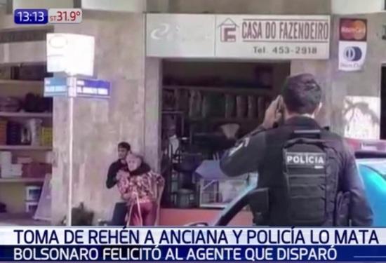 Policía abatió a ladrón y Bolsonaro lo elogió